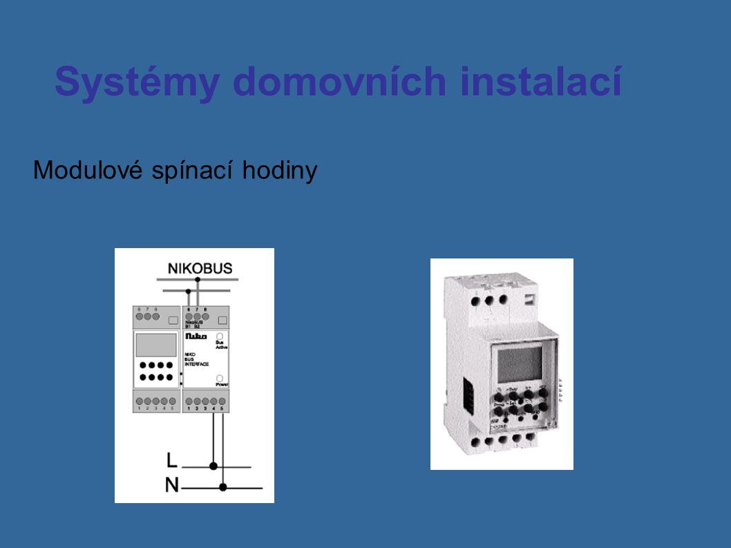 Systémy domovních instalací Modulové spínací hodiny