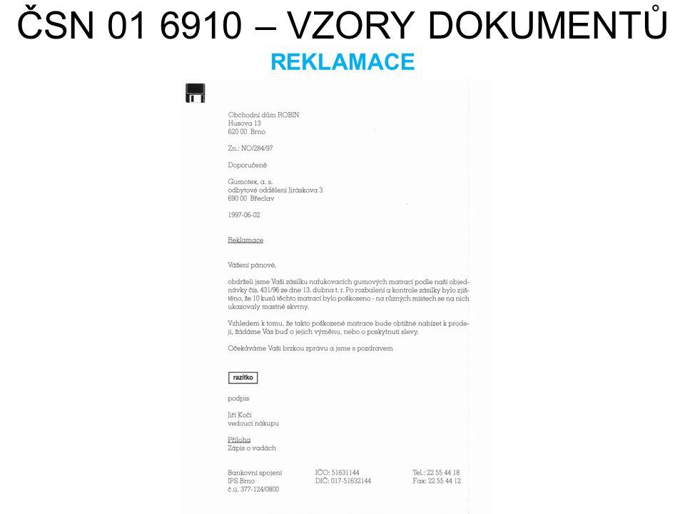ČSN 01 6910 – VZORY DOKUMENTŮ REKLAMACE HAMISH2K. cs.wikipedia.org [online]. [cit. 22.7.2013]. Dostupný na WWW: http://cs.wikipedia.org/wiki/Soubor:X3