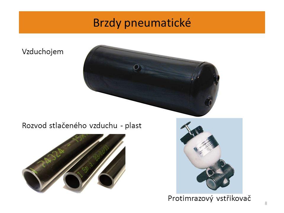 Brzdy pneumatické 8 Vzduchojem Rozvod stlačeného vzduchu - plast Protimrazový vstřikovač