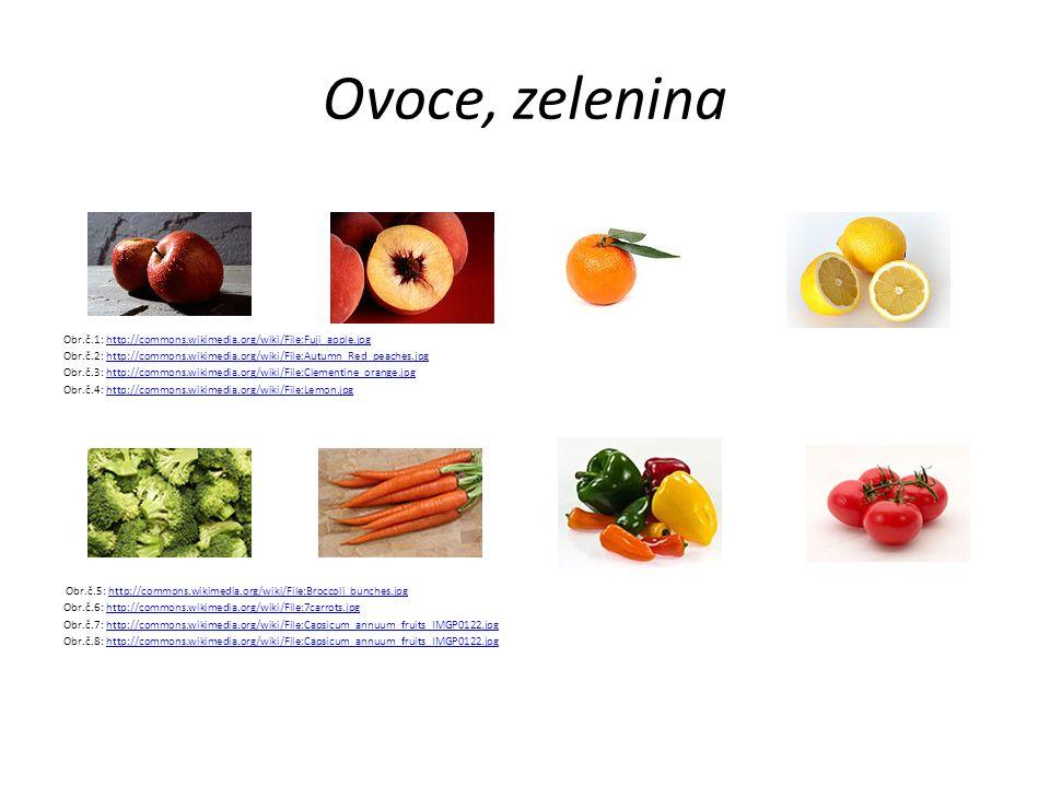 Ovoce, zelenina Obr.č.1: http://commons.wikimedia.org/wiki/File:Fuji_apple.jpghttp://commons.wikimedia.org/wiki/File:Fuji_apple.jpg Obr.č.2: http://co