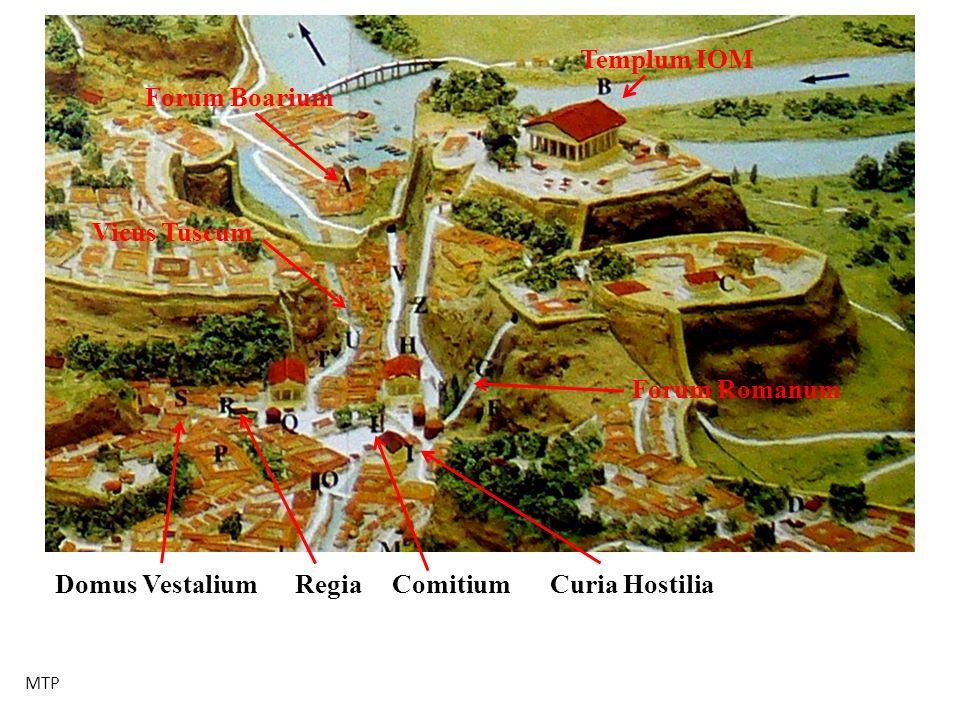 Domus Vestalium Vicus Tuscum Regia Forum Romanum Templum IOM ComitiumCuria Hostilia Forum Boarium MTP