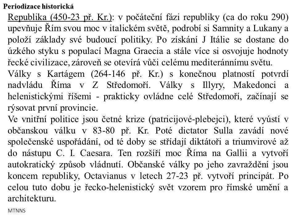 Periodizace historická Republika (450-23 př.