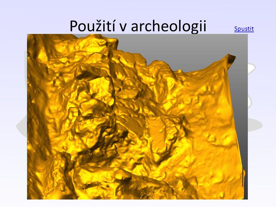 Použití v archeologii Spustit