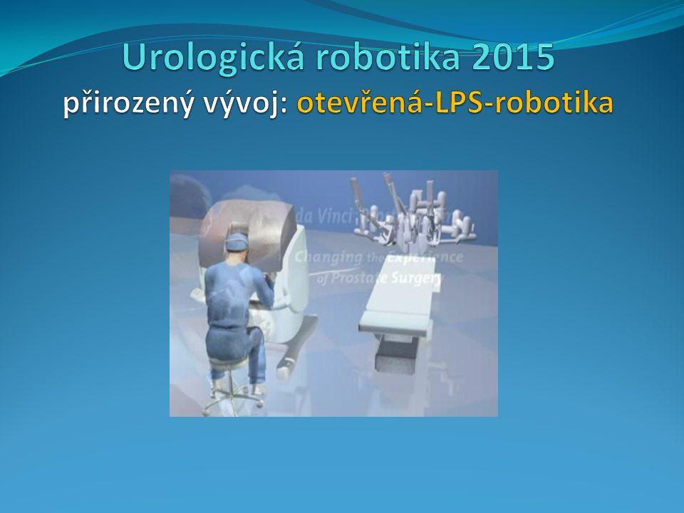 Urologické robotické výkony Robotická operace prostaty (DVP) Robotická resekce Robotická resekce ledviny Robotická rekonstrukce Robotická rekonstrukce horních močových cest-------------------------------------------------------------------------------------------------------- Robotické odstranění močového měchýřeověřují se výsledky