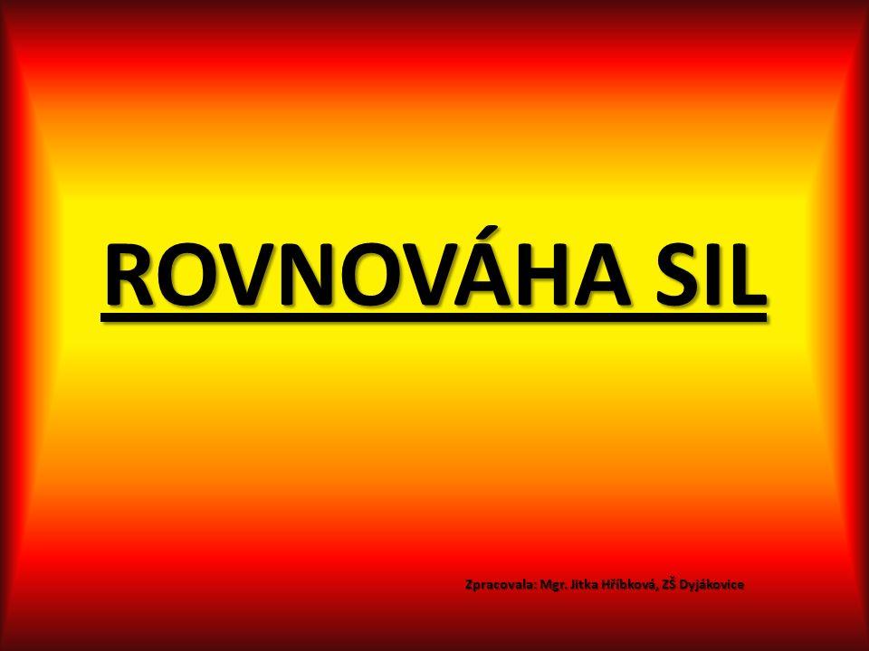 ROVNOVÁHA SIL Zpracovala: Mgr. Jitka Hříbková, ZŠ Dyjákovice