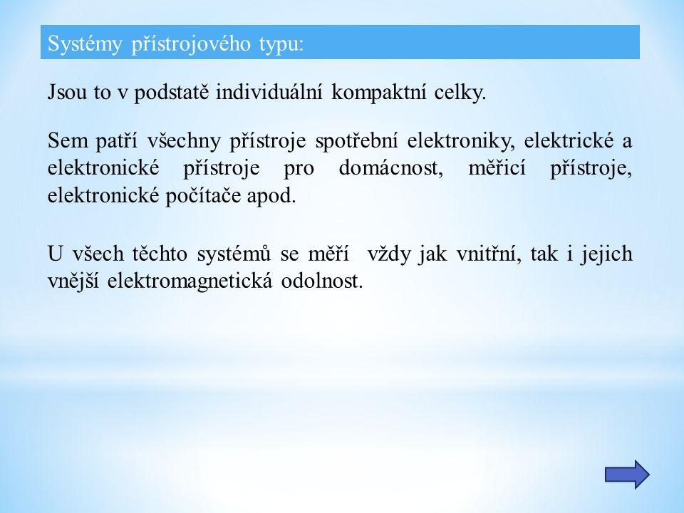 Systémy přístrojového typu: Jsou to v podstatě individuální kompaktní celky.