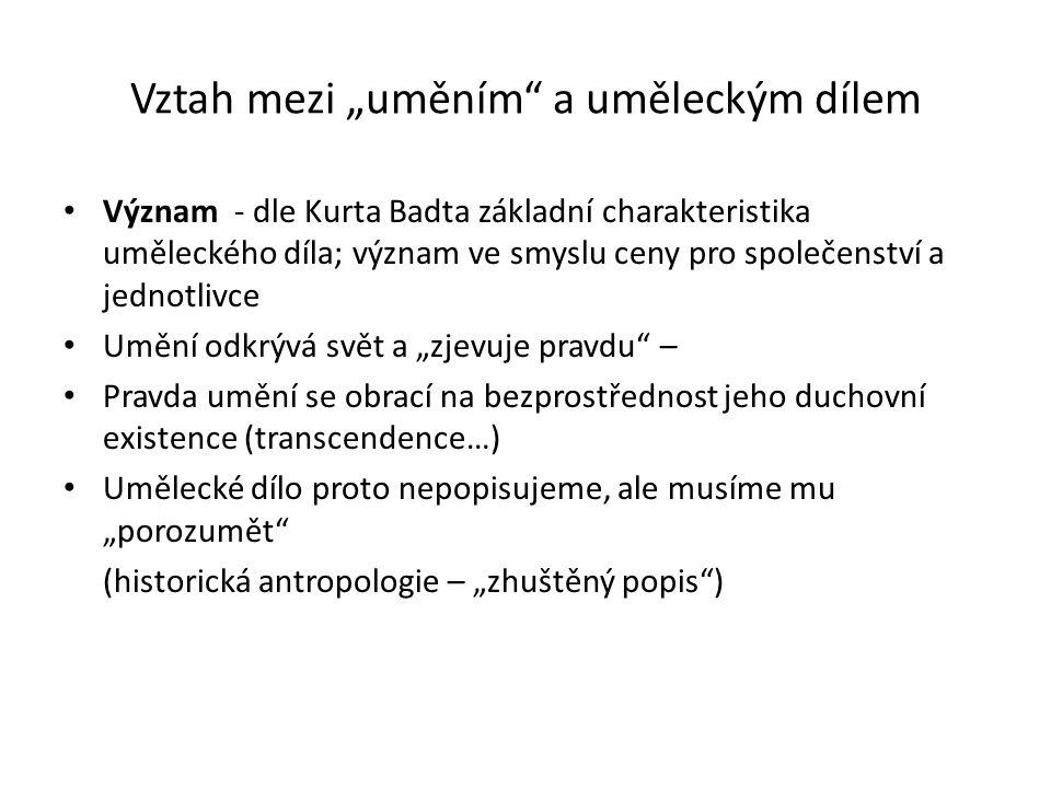 """Vztah mezi """"uměním a uměleckým dílem Kánon – ustálený výběr uměleckých děl Diskuse (2006 Mezinárodní kongres dějin umění, sekce Dějiny umění mimo kánon) Problém 1: různý výklad (normativní proporční vzor; autoritativní sbírka předpisů a textů; skupina uměl."""
