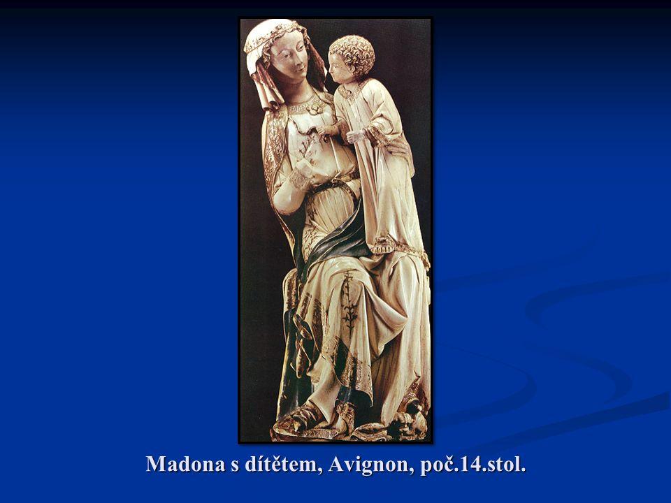 Madona s dítětem, Avignon, poč.14.stol.