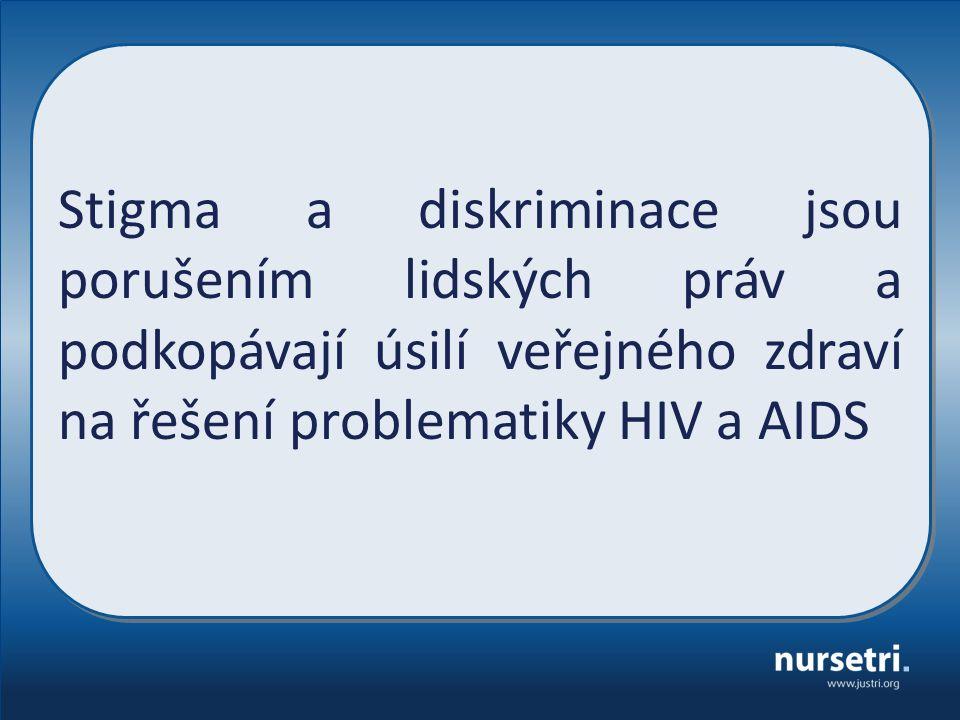 Stigma a diskriminace jsou porušením lidských práv a podkopávají úsilí veřejného zdraví na řešení problematiky HIV a AIDS