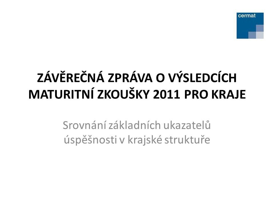 ZÁVĚREČNÁ ZPRÁVA O VÝSLEDCÍCH MATURITNÍ ZKOUŠKY 2011 PRO KRAJE Srovnání základních ukazatelů úspěšnosti v krajské struktuře