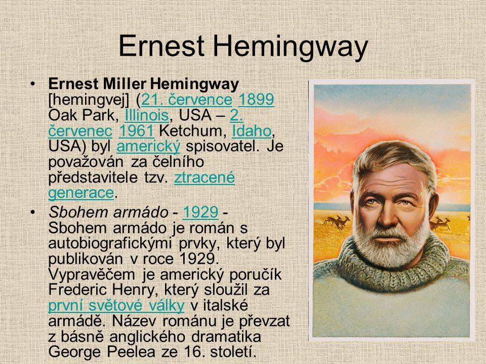 Ernest Hemingway Ernest Miller Hemingway [hemingvej] (21.