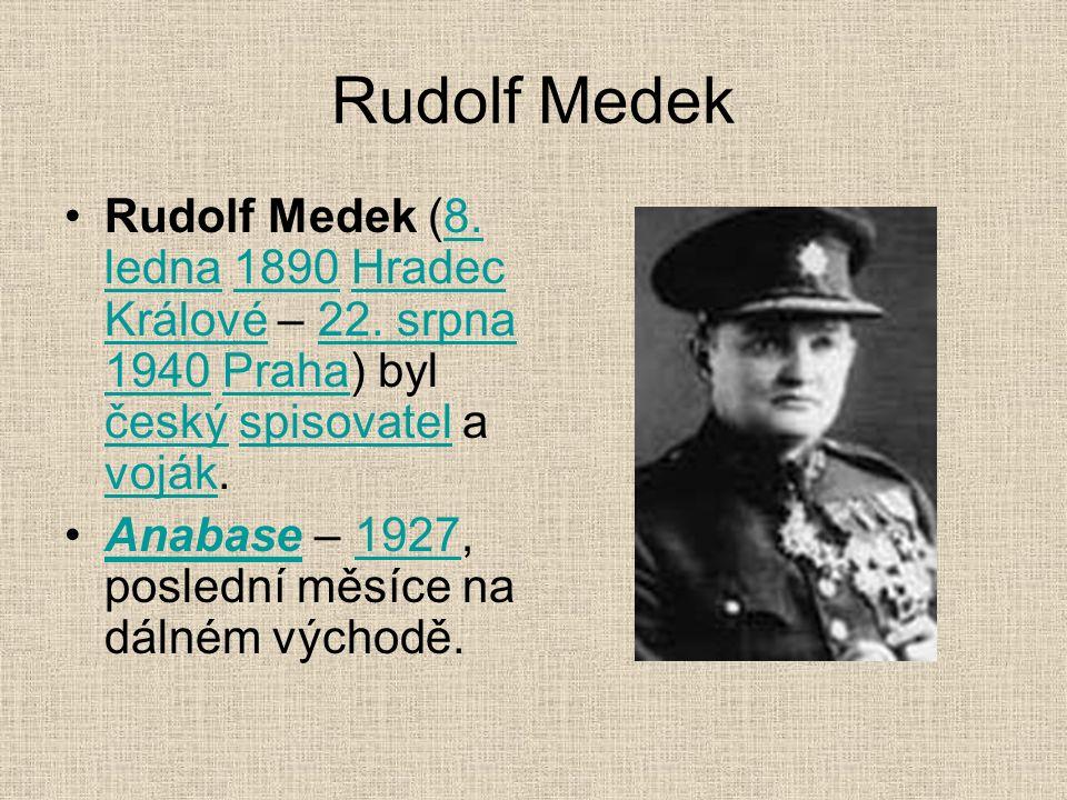 Rudolf Medek Rudolf Medek (8. ledna 1890 Hradec Králové – 22.
