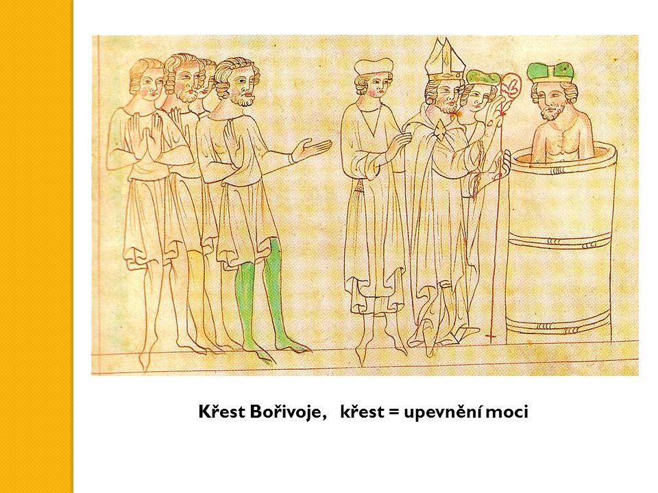 Křest Bořivoje, křest = upevnění moci