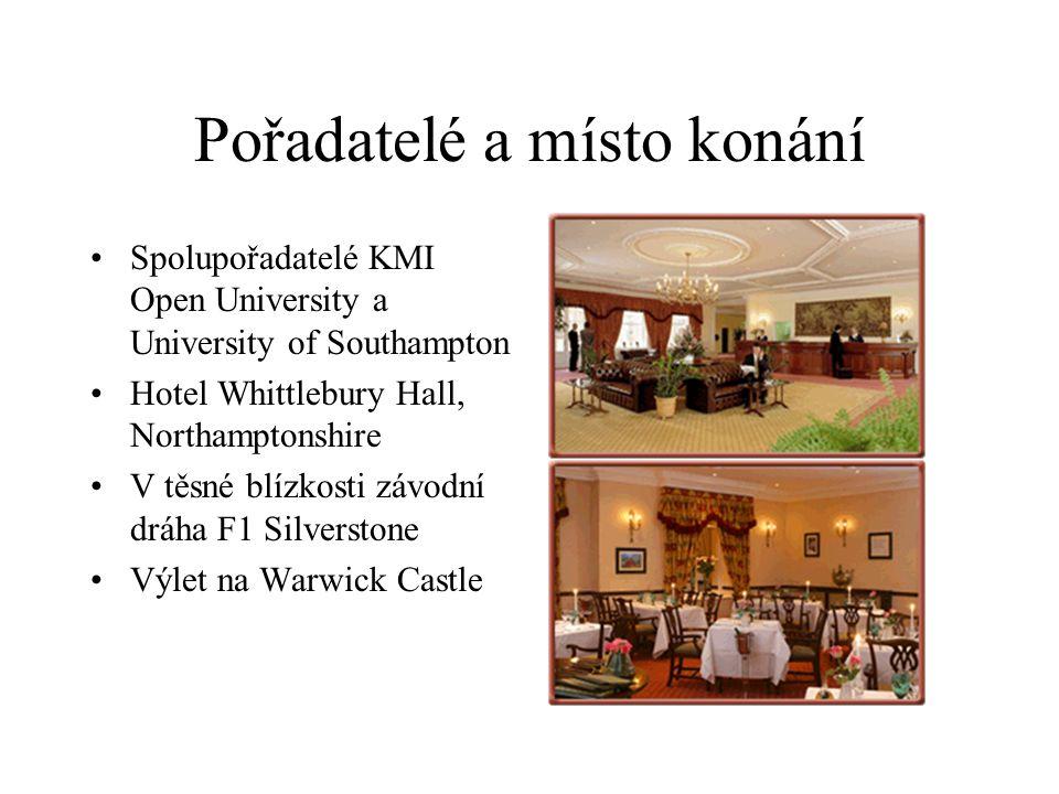 Pořadatelé a místo konání Spolupořadatelé KMI Open University a University of Southampton Hotel Whittlebury Hall, Northamptonshire V těsné blízkosti závodní dráha F1 Silverstone Výlet na Warwick Castle