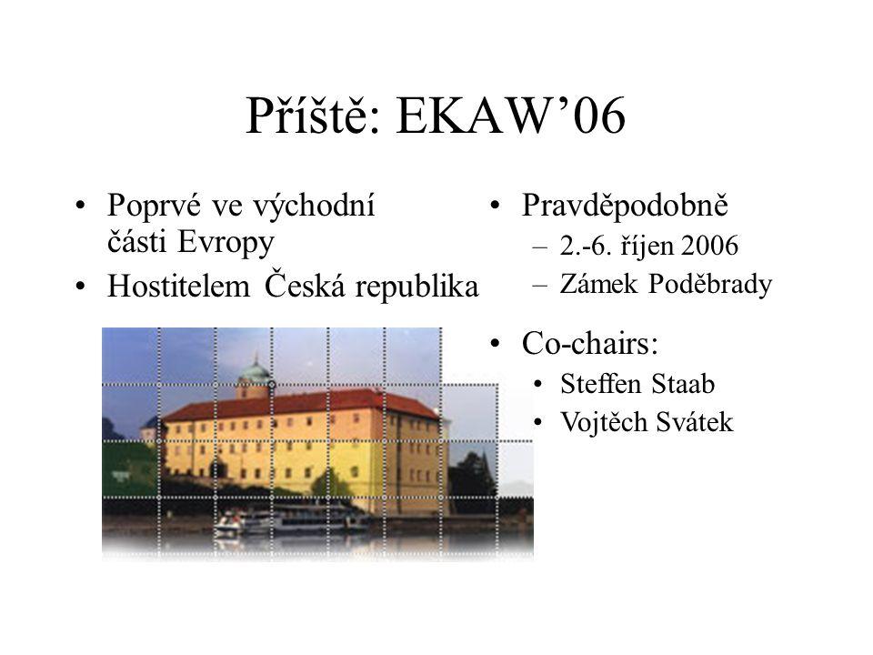 Příště: EKAW'06 Pravděpodobně –2.-6.