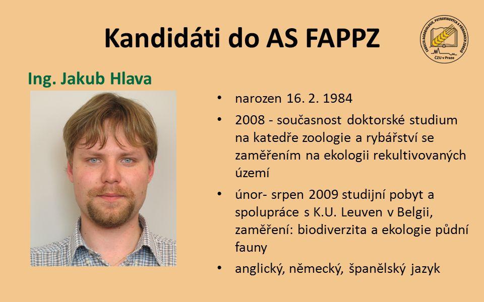 Kandidáti do AS FAPPZ narozen 16. 2.