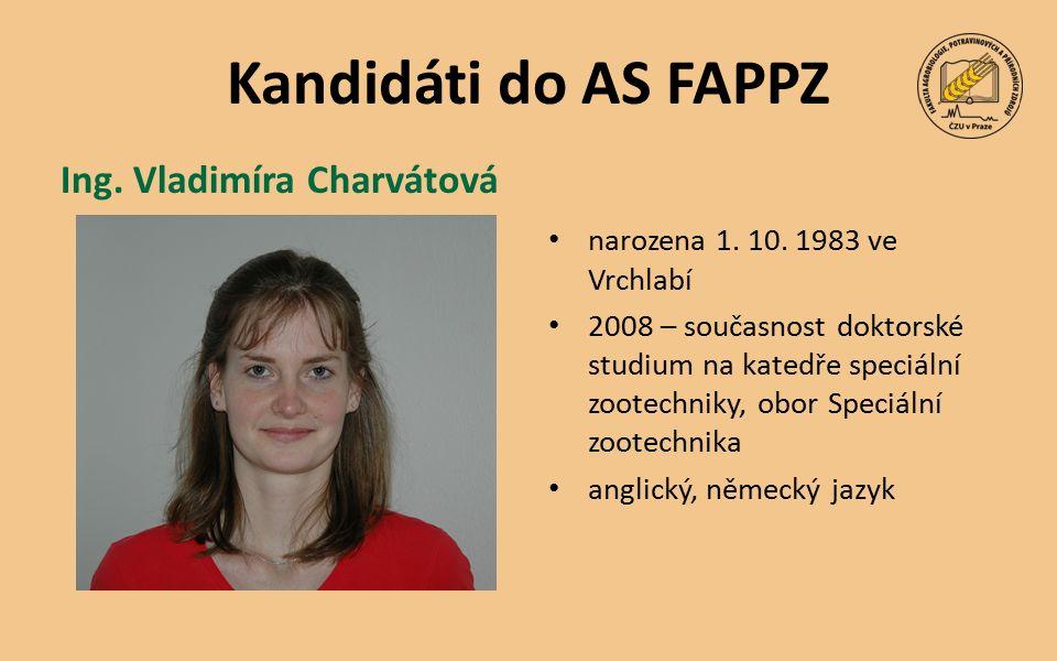 Kandidáti do AS FAPPZ narozena 1. 10.
