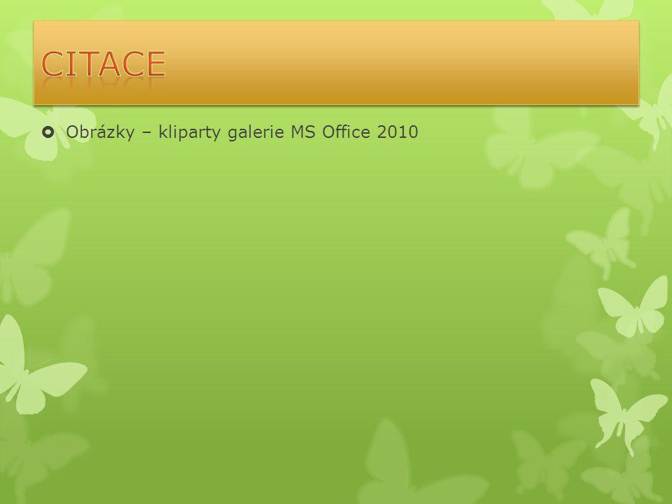  Obrázky – kliparty galerie MS Office 2010