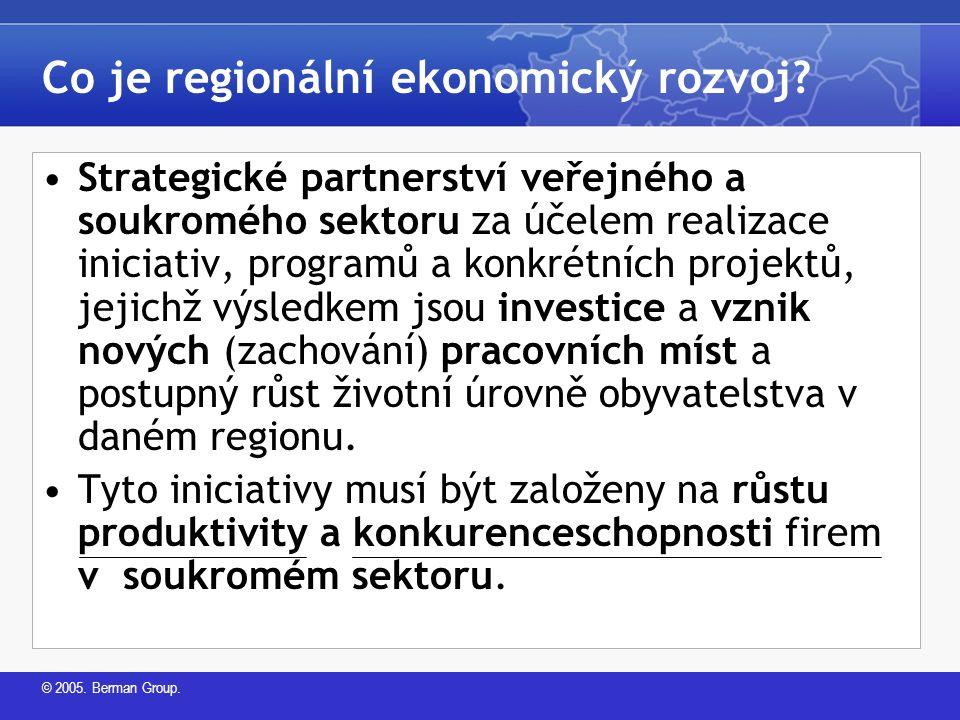 © 2005. Berman Group. Co je regionální ekonomický rozvoj.