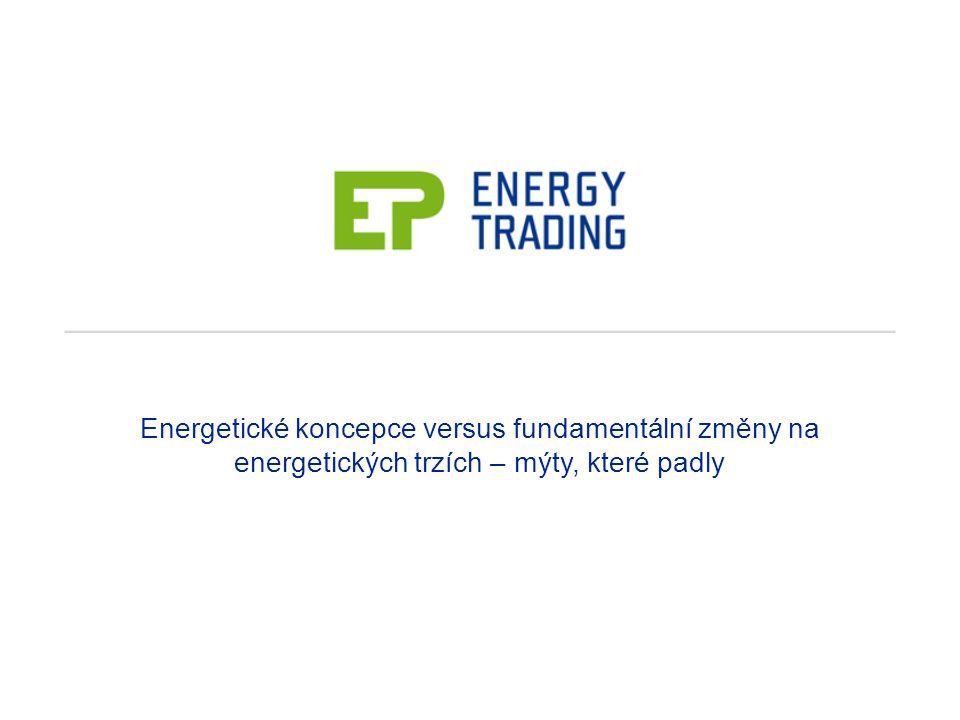 Energetické koncepce versus fundamentální změny na energetických trzích – mýty, které padly