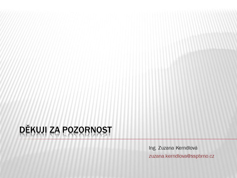 Ing. Zuzana Kerndlová zuzana.kerndlova@sspbrno.cz