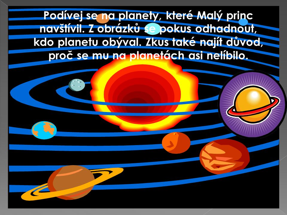 Podívej se na planety, které Malý princ navštívil.