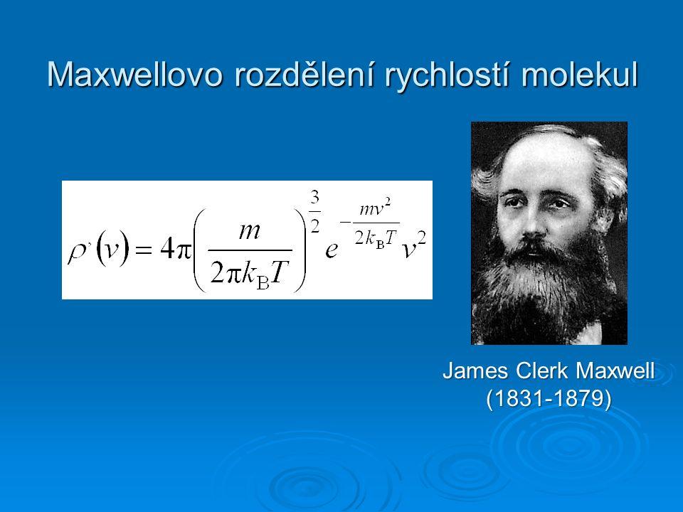 Maxwellovo rozdělení rychlostí molekul James Clerk Maxwell (1831-1879)