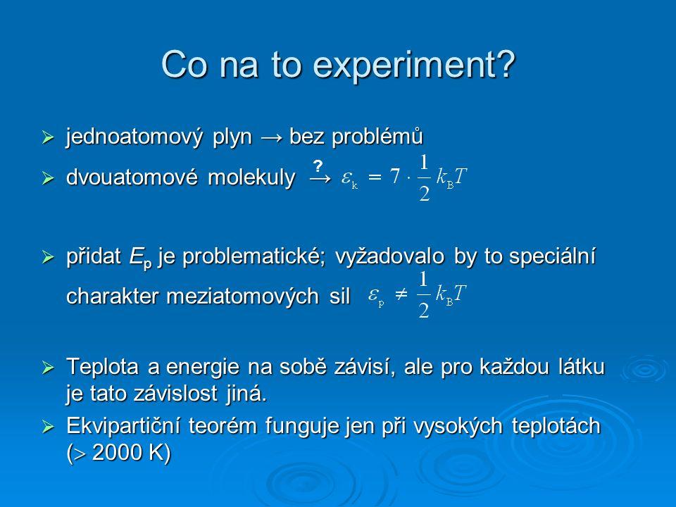 Rozdělení rychlostí kyslík T = 300 K