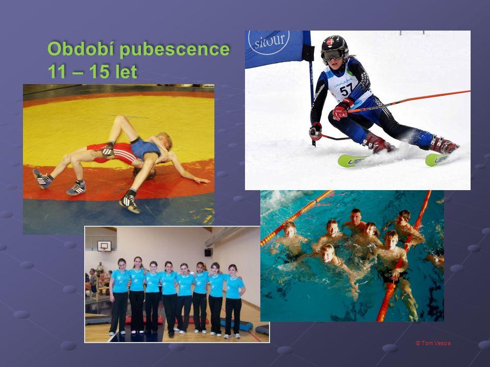 © Tom Vespa Období pubescence 11 – 15 let Období pubescence 11 – 15 let