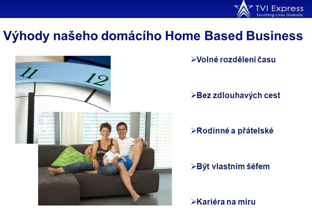 Výhody našeho domácího Home Based Business  Volné rozdělení času  Bez zdlouhavých cest  Rodinné a přátelské  Být vlastním šéfem  Kariéra na míru