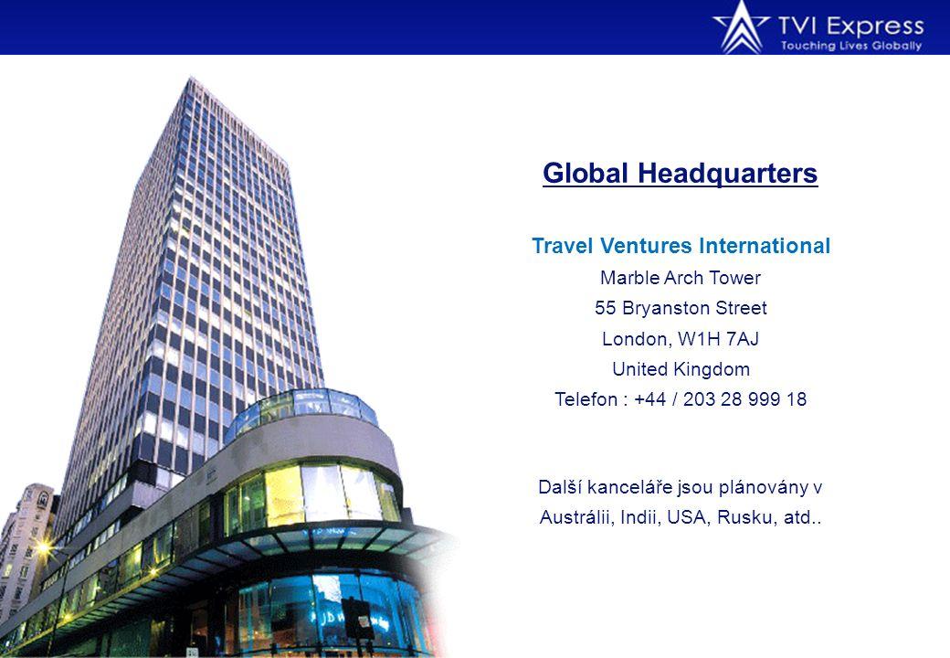 Global Headquarters Travel Ventures International Marble Arch Tower 55 Bryanston Street London, W1H 7AJ United Kingdom Telefon : +44 / 203 28 999 18 D