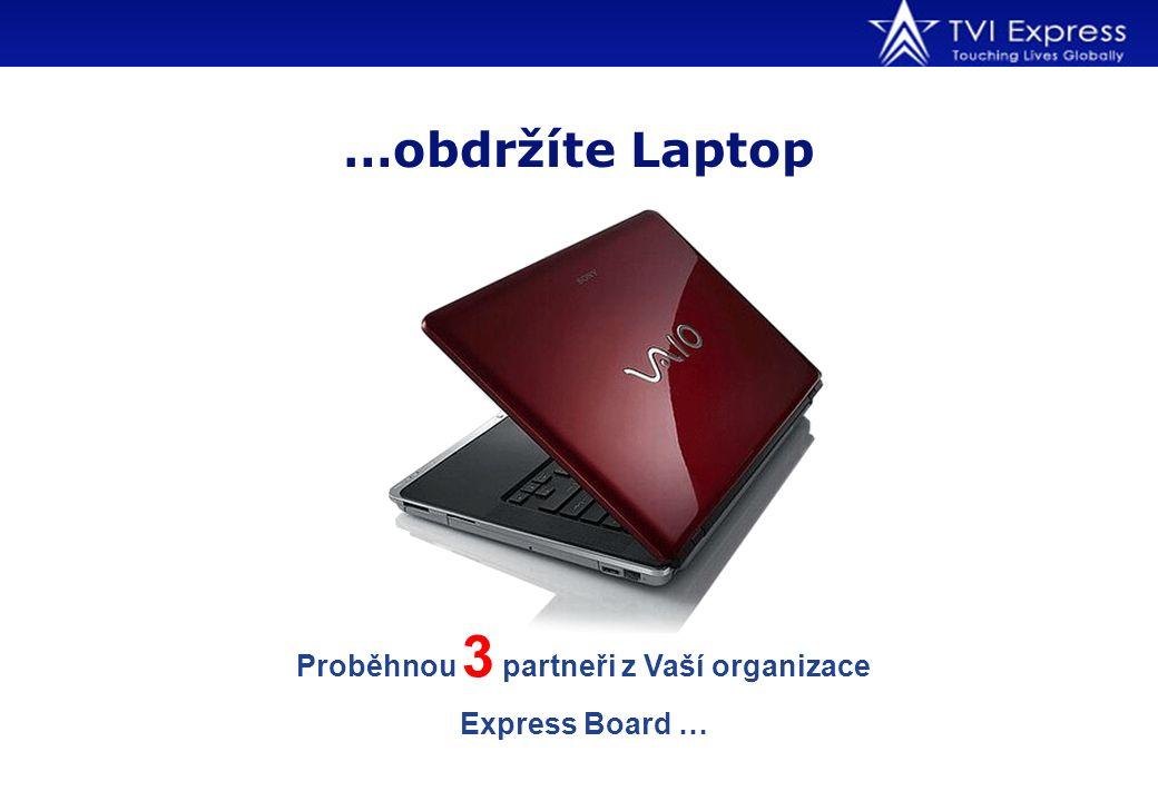 …obdržíte Laptop Proběhnou 3 partneři z Vaší organizace Express Board …