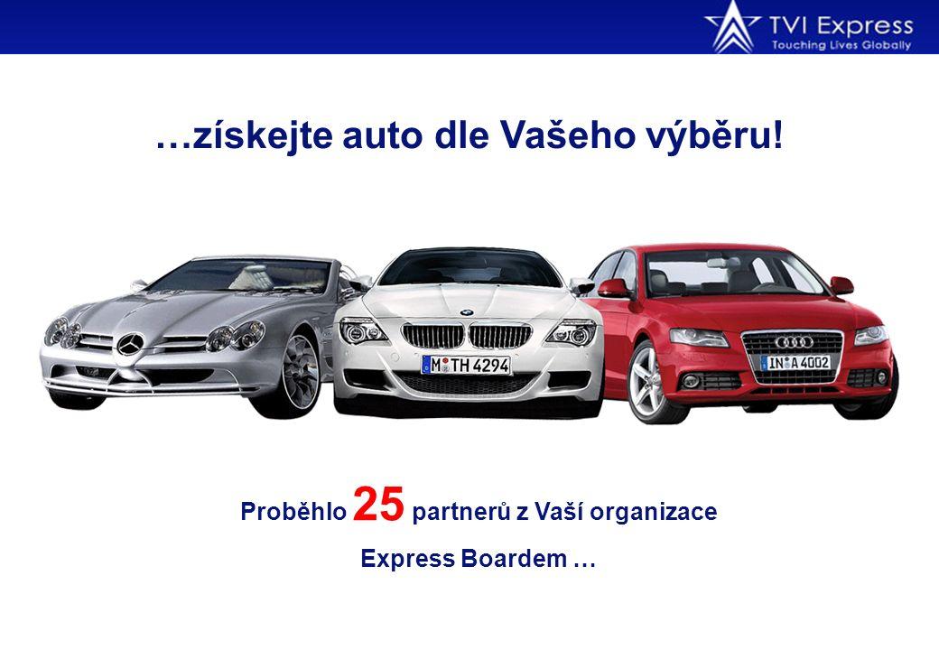 …získejte auto dle Vašeho výběru! Proběhlo 25 partnerů z Vaší organizace Express Boardem …