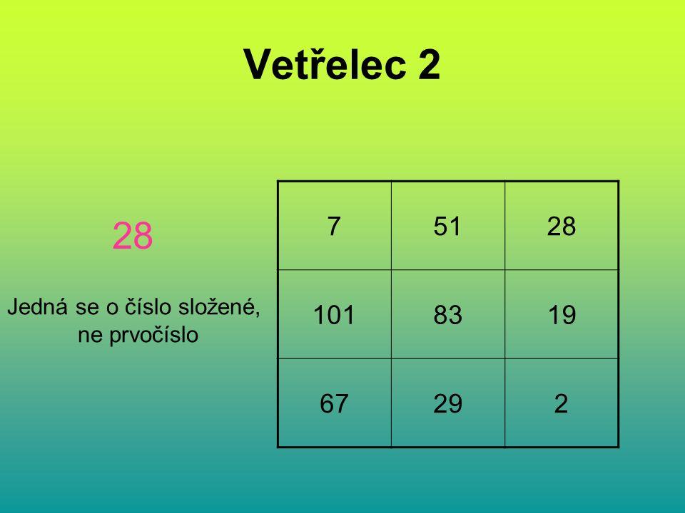 Vetřelec 2 75128 1018319 67292 28 Jedná se o číslo složené, ne prvočíslo