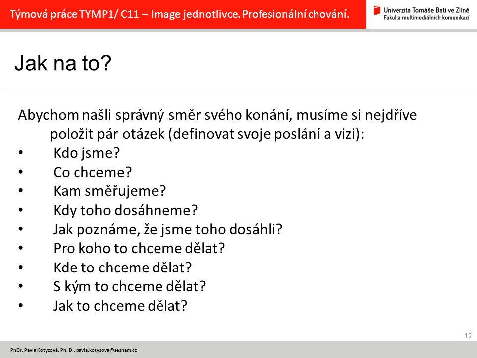 Jak na to.12 PhDr. Pavla Kotyzová, Ph.
