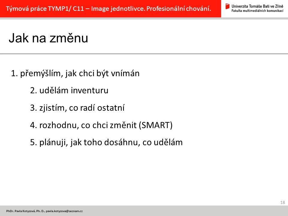 Jak na změnu 18 PhDr.Pavla Kotyzová, Ph.