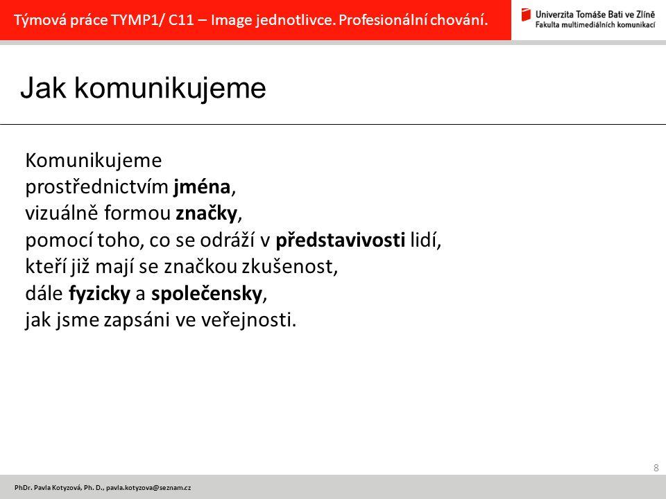 Jak komunikujeme 8 PhDr.Pavla Kotyzová, Ph.