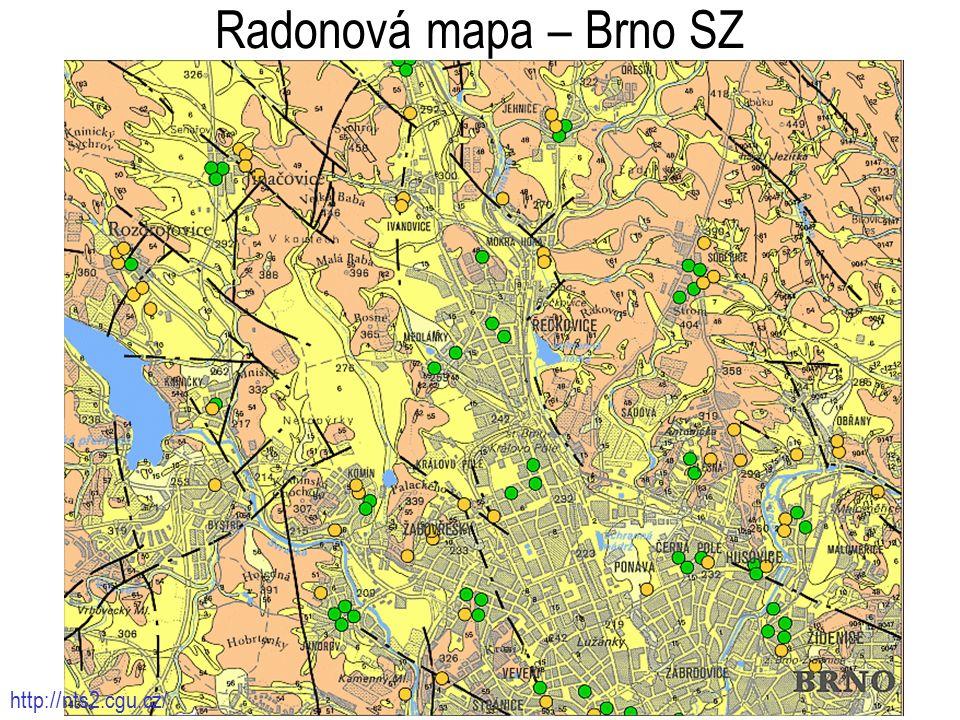 1212 Radonová mapa – Brno SZ http://nts2.cgu.cz/