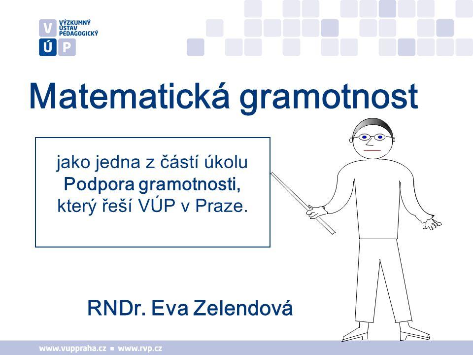jako jedna z částí úkolu Podpora gramotnosti, který řeší VÚP v Praze.