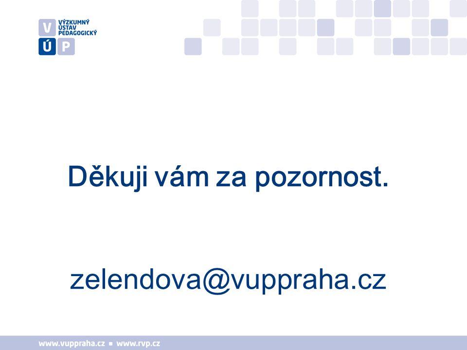 Děkuji vám za pozornost. zelendova@vuppraha.cz