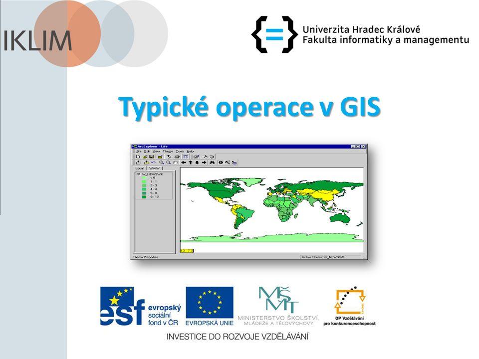 Typické operace v GIS