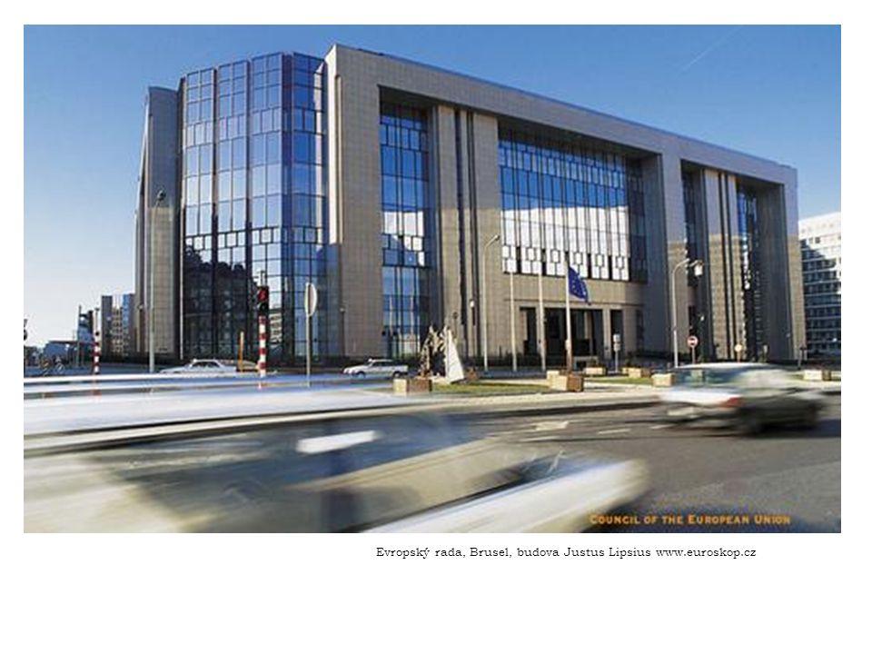 Evropský rada, Brusel, budova Justus Lipsius www.euroskop.cz