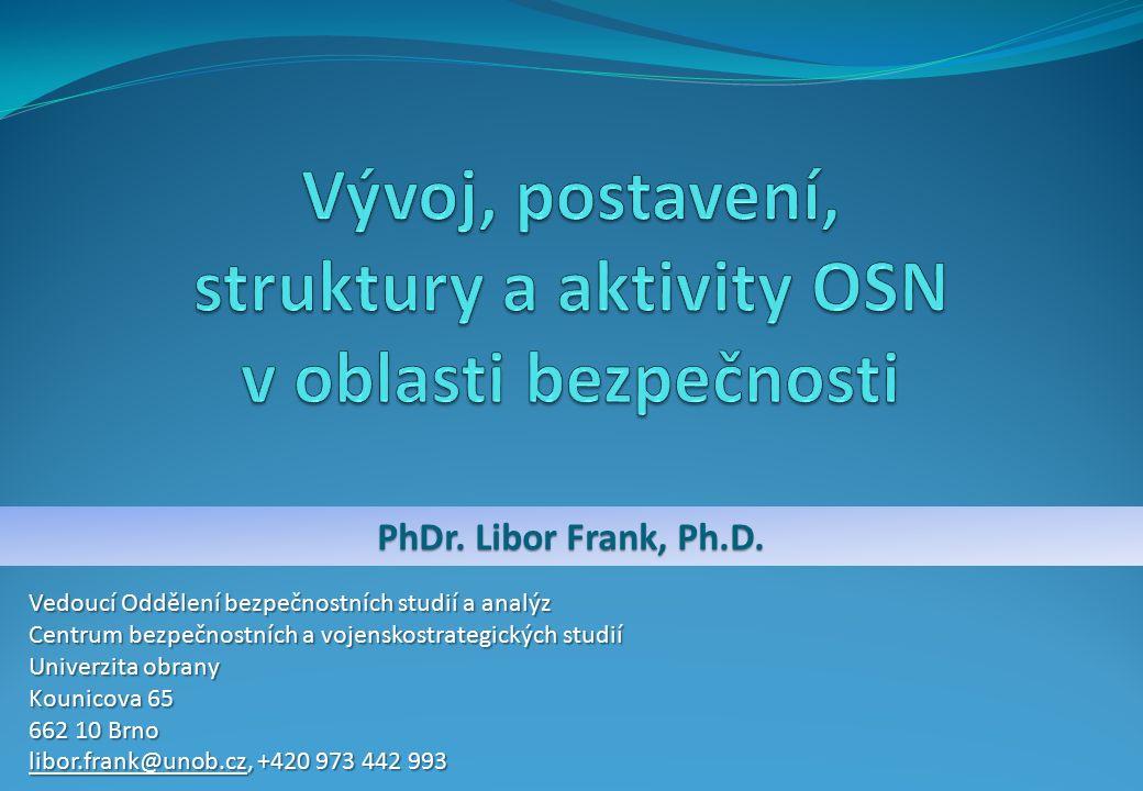 PhDr. Libor Frank, Ph.D.