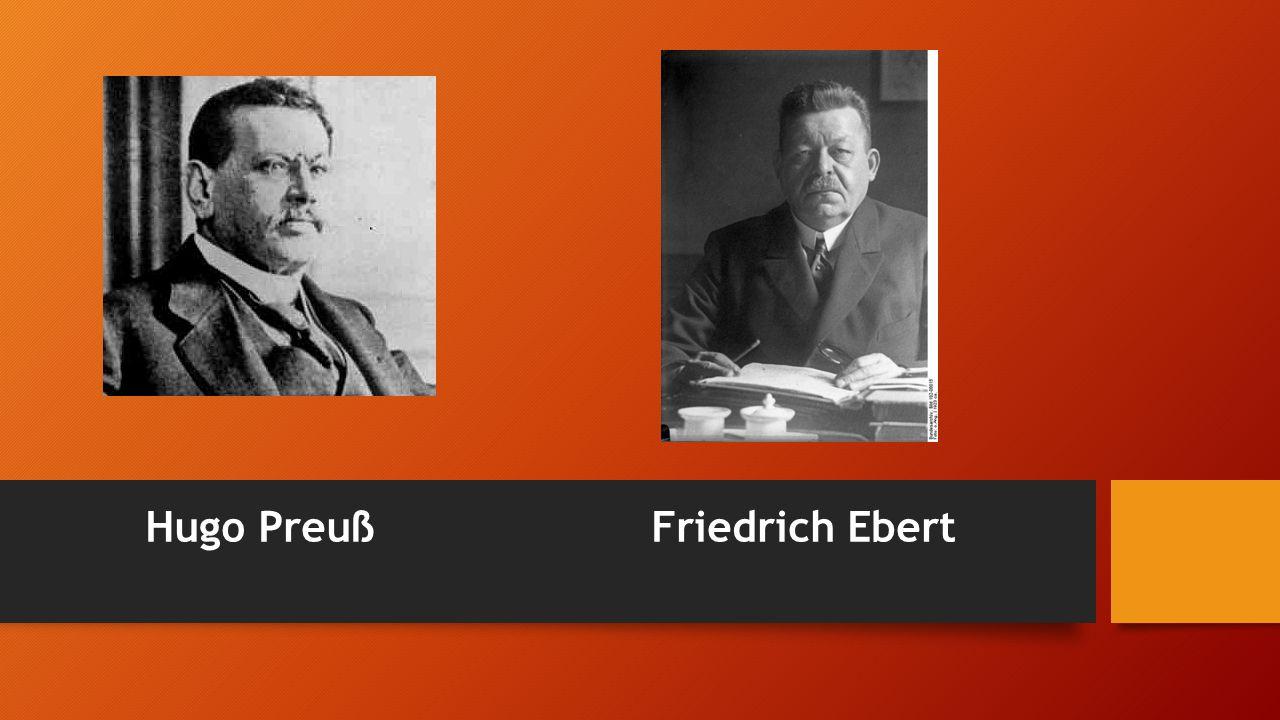 Hugo Preuß Friedrich Ebert