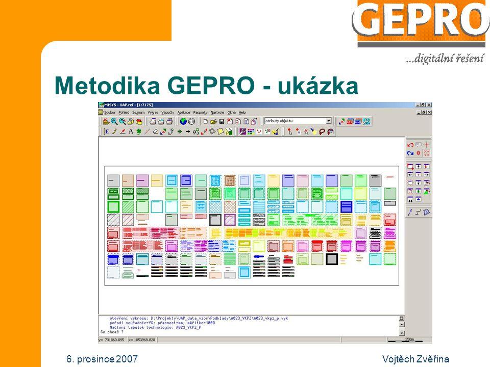 Vojtěch Zvěřina6. prosince 2007 Metodika GEPRO - členění projektu