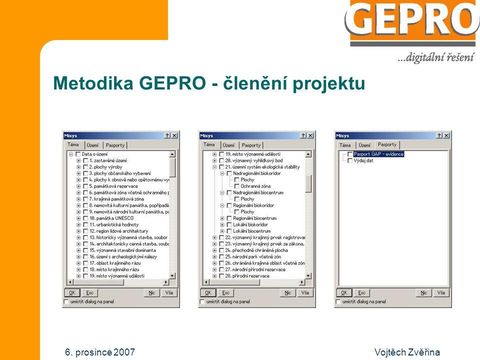 Vojtěch Zvěřina6. prosince 2007 Metodika GEPRO - uživatelé Poskytovatelé ORP Projektanti Urbanisté