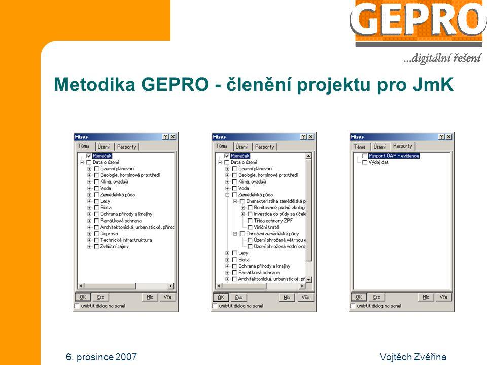 Vojtěch Zvěřina6. prosince 2007 Metodika GEPRO - členění projektu pro JmK