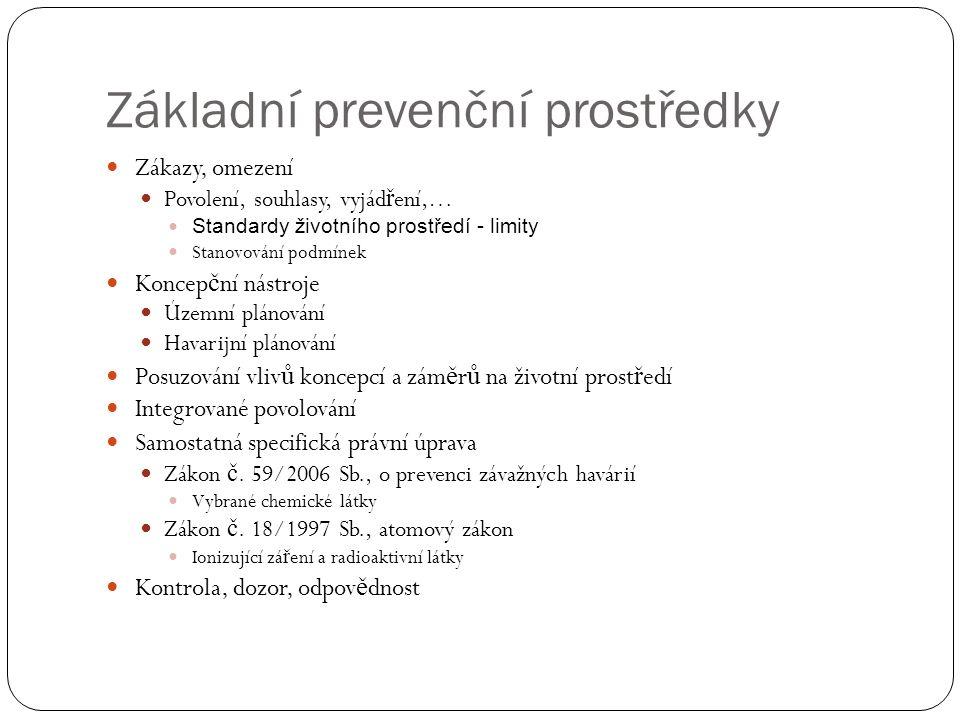 Posuzování vlivů na životní prostředí Zákon č.100/2001 Sb.