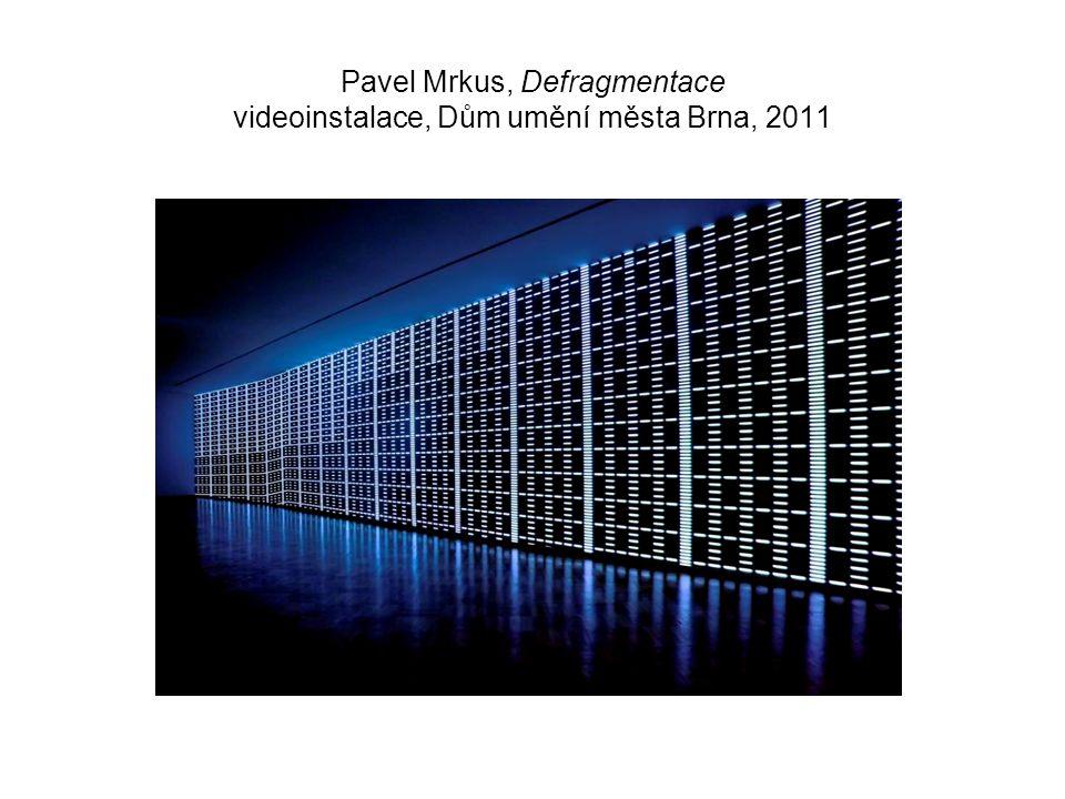 Pavel Mrkus, Defragmentace videoinstalace, Dům umění města Brna, 2011