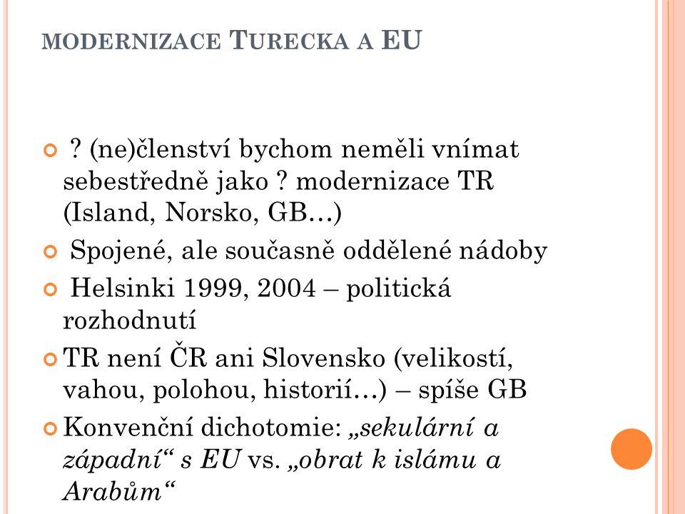 MODERNIZACE T URECKA A EU . (ne)členství bychom neměli vnímat sebestředně jako .